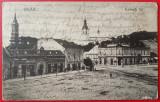 1925 - Zalău, piata Kossuth, vedere circulata (jud. Salaj)