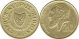 Cipru 1991 - 20 cents, circulata