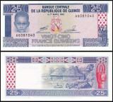 Guinea 1985 - 25 francs, necirculata