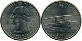 SUA 2001P - 25 cents, circulata - North Carolina