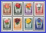 Ungaria 1962 - trandafiri, serie neuzata