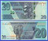 Zimbabwe 2020 - 20 dollars, necirculata