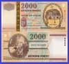 Ungaria 2000 - 2000 forint UNC, bancnota milenara comemorativa