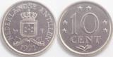 Antilele Olandeze 1971 - 10 cents UNC