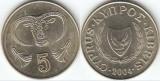 Cipru 2004 - 5 cent, circulata