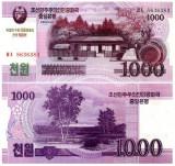 Coreea de Nord 2012 - 1000 won, necirculata