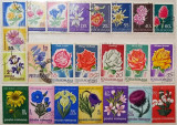 Lot filatelic - flori, stampilate