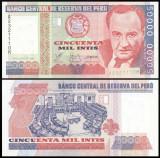 Peru 1988 - 50.000 intis, necirculata