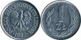 Polonia 1983 - 1 zloty, circulata