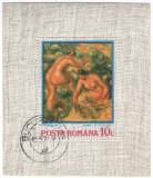 Romania 1974 - Reproduceri de artă - Impresionismul, colita stampilata