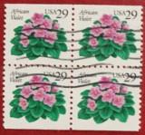 Statele Unite 1993 - Flori - Violet african, stampilata de 4
