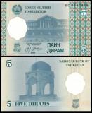 Tadjikistan 1999 - 5 diram, necirculata