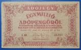 Ungaria 1946 - 1.000.000 adopengo, circulata - cu serie