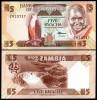 Zambia 1986 - 5 kwacha, necirculata