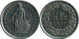 Elvetia 1977 - ½ franc, circulata