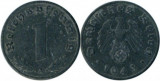 Germania 1943A - 1 reichspfennig, circulata