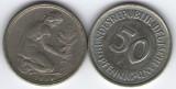 Germania 1969F - 50 pfennig, circulata