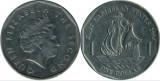 Insulele Caraibe 2004 - 1 dollar, circulata