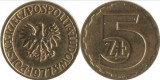 Polonia 1977 - 5 zloty, circulata