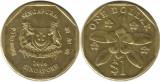 Singapore 2006 - 1 dollar, circulata