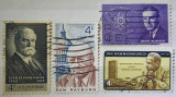 Statele Unite 1962 - personalitati, serie stampilata