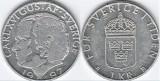 Suedia 1997 - 1 krona, circulata