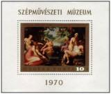 Ungaria 1970 - Muzeul de Arta Frumoasa, colita neuzata
