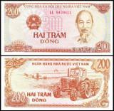 Vietnam 1987 - 200 dong, necirculata
