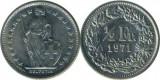 Elvetia 1971 - ½ franc, circulata