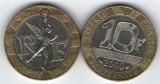Franta 2000 - 10 franci, circulata