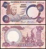 Nigeria 1983 - 5 naira, necirculata
