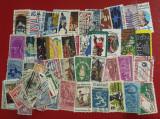 Plic filatelic - 100 de timbre diferite, U.S.A. stampilate
