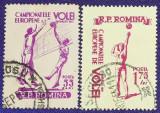 Romania 1955 - C.E. Volei, serie stampilata