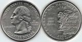 SUA 2000D - 25 cents, circulata - New Hampshire
