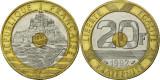 Franta 1992 - 20 francs, circulata