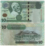 Libia 2004 - 10 dinars, circulata