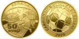 Romania 2021 - 50 bani, Campionatul European de Fotbal, proof