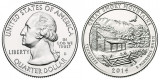 SUA 2014D - 25 cents, circulata - Tennessee
