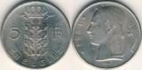 Belgia 1961 - 5 franci, circulata
