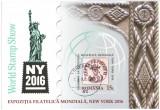 Romania 2016 - expo filatelic New York, colita stampilata