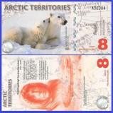 Antarctica 2011 - 8 dollars, necirculata