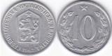 Cehoslovacia 1962 - 10 hellers, circulata
