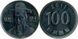 Coreea de Sud 2011 - 100 won, circulata