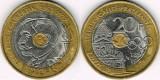 Franta 1994 - 20 franci, circulata
