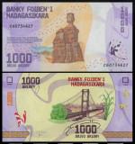 Madagascar 2017 - 1000 francs, necirculata