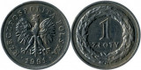 Polonia 1991 - 1 zloty, circulata