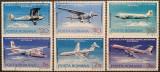 Romania 1976 - 50th inaugurarea primei linii aeriene naţionale, serie stampilata