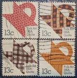 Statele Unite 1978 - folk art, serie stampilata