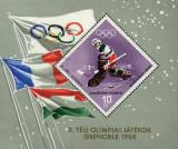 Ungaria 1968 - Jocurile Olimpice Grenoble, colita neuzata