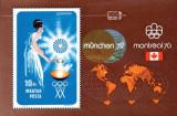 Ungaria 1973 - Jocurile Olimpice - München și Montreal, colita neuzata